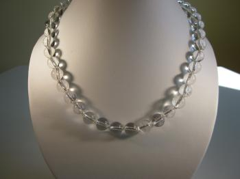 Rock Crystal Quartz Bead Necklace - Sold Items