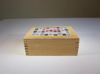 Inlaid Tile & Basswood Dream Box - Dream Boxes