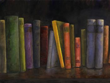 Books-34x26-triptich1 - Marsha Tarlow Steinberg