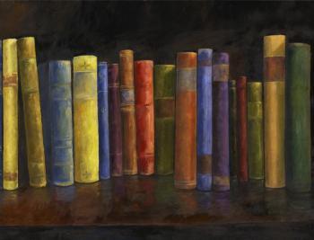 Books-34x26-triptich3 - Marsha Tarlow Steinberg