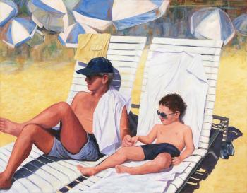 Dad & son - Marsha Tarlow Steinberg