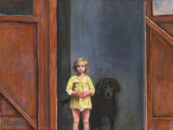 Girl & dog - Marsha Tarlow Steinberg