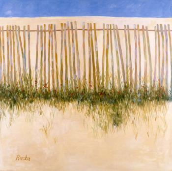 Beach Fence ll - Marsha Tarlow Steinberg