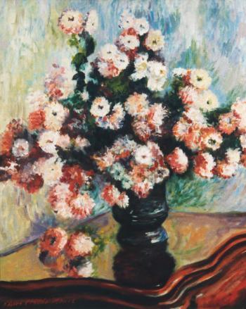Chrysanthemums   apres Claude Monet - Marsha Tarlow Steinberg