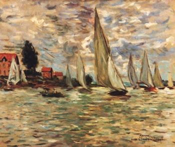 Boat Races at Argenteuil  apres Claude Monet - Marsha Tarlow Steinberg