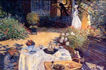 The Luncheon   apres Claude Monet - Marsha Tarlow Steinberg