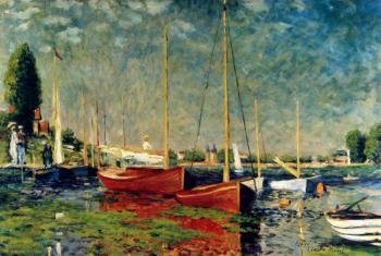 Boats at Argenteuil  apres Claude Monet - Marsha Tarlow Steinberg