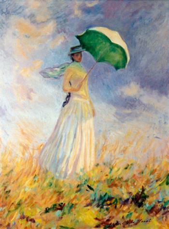 Lady With Parasol - Marsha Tarlow Steinberg