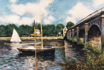 The Bridge at Argenteuil apres Claude Monet - Marsha Tarlow Steinberg