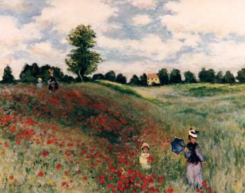 Poplars apres Claude Monet - Marsha Tarlow Steinberg