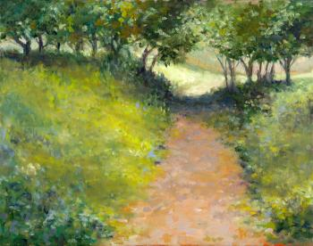Orange Path - Marsha Tarlow Steinberg