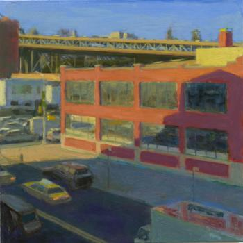 Red Building in Shadow - Violet Baxter