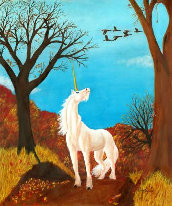 Autumn Unicorn - Kathy Mccaffrey