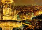 Paris At Night From Window