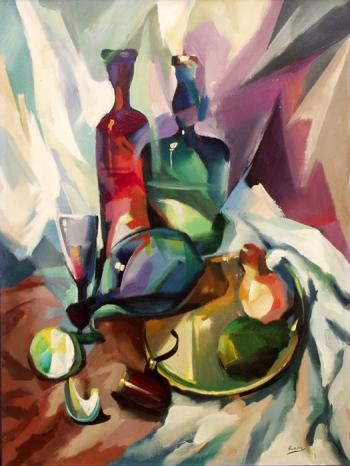 Wine Still-Life - Ruben Bore
